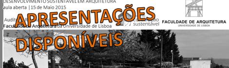 (Português) APRESENTAÇÕES DE AULA ABERTA | DESENVOLVIMENTO SUSTENTÁVEL EM ARQUITETURA | FAUL | 15 DE MAIO