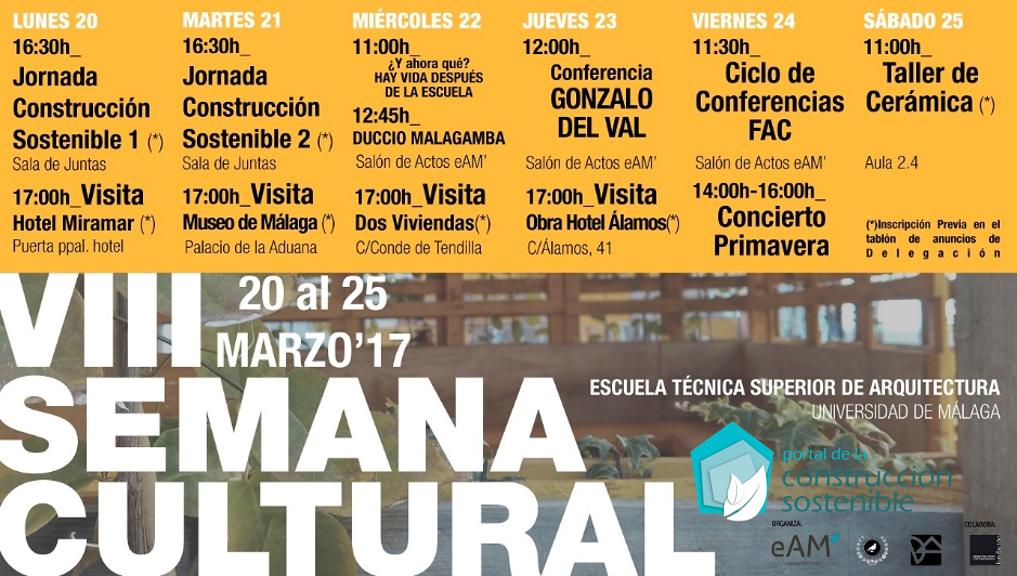 Semana Cultural | Escola Tecnica Superior de Arquitectura de Málaga