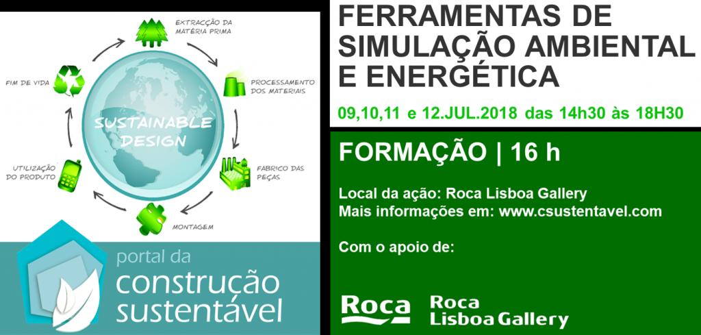 FERRAMENTAS DE SIMULAÇÃO AMBIENTAL E ENERGÉTICA  | FORMAÇÃO | 16H
