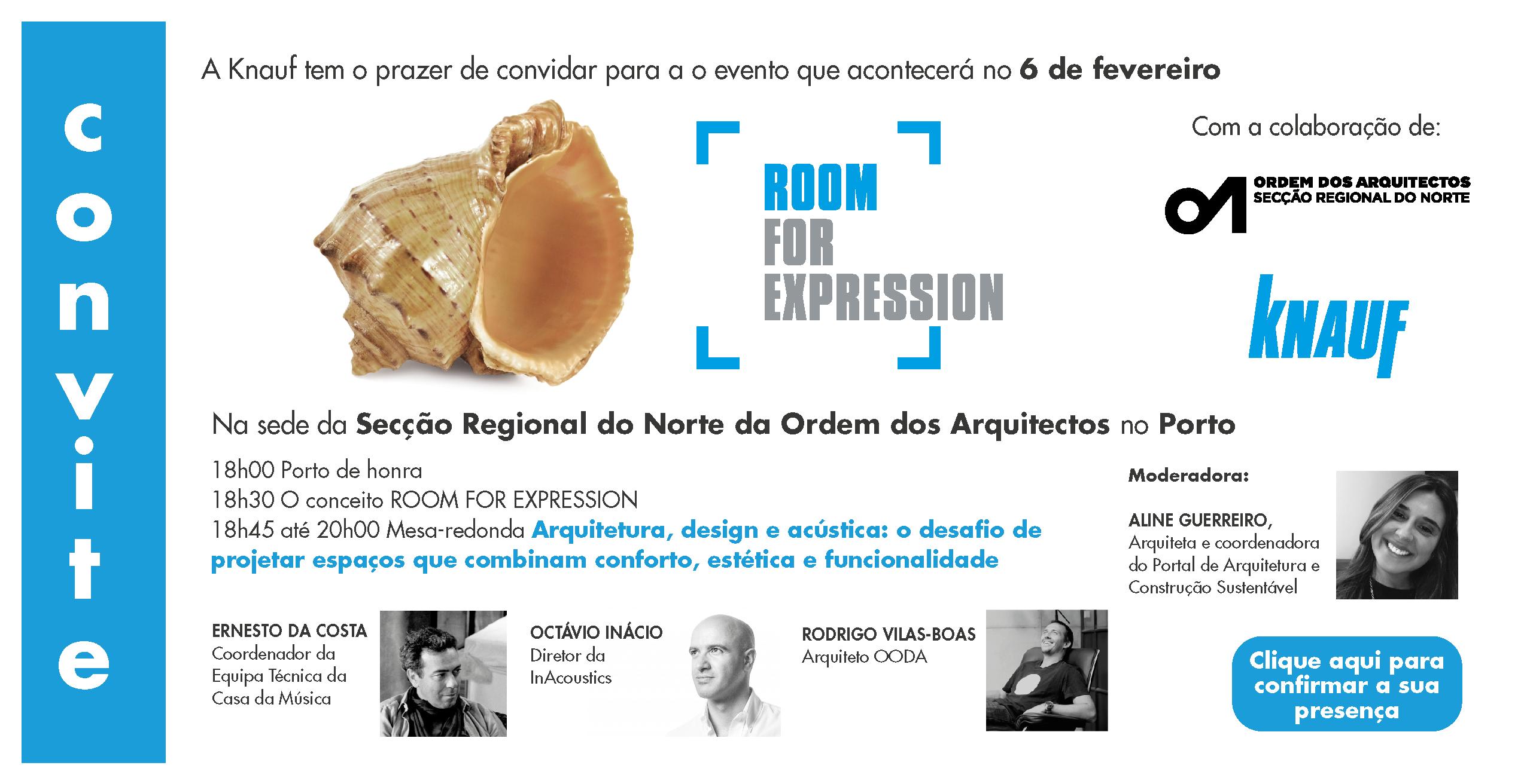 ROOM FOR EXPRESSION | EVENTO KNAUF NA ORDEM DOS ARQUITETOS